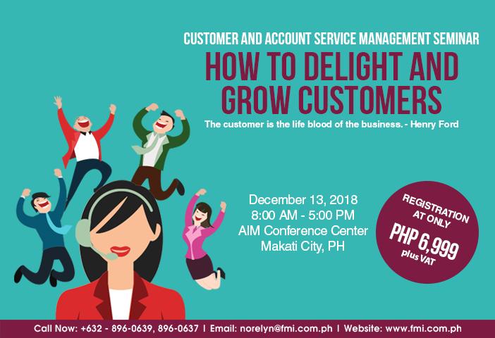 Customer and Account Service Management Seminar 2018