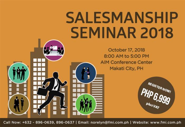 Salesmanship Seminar 2018