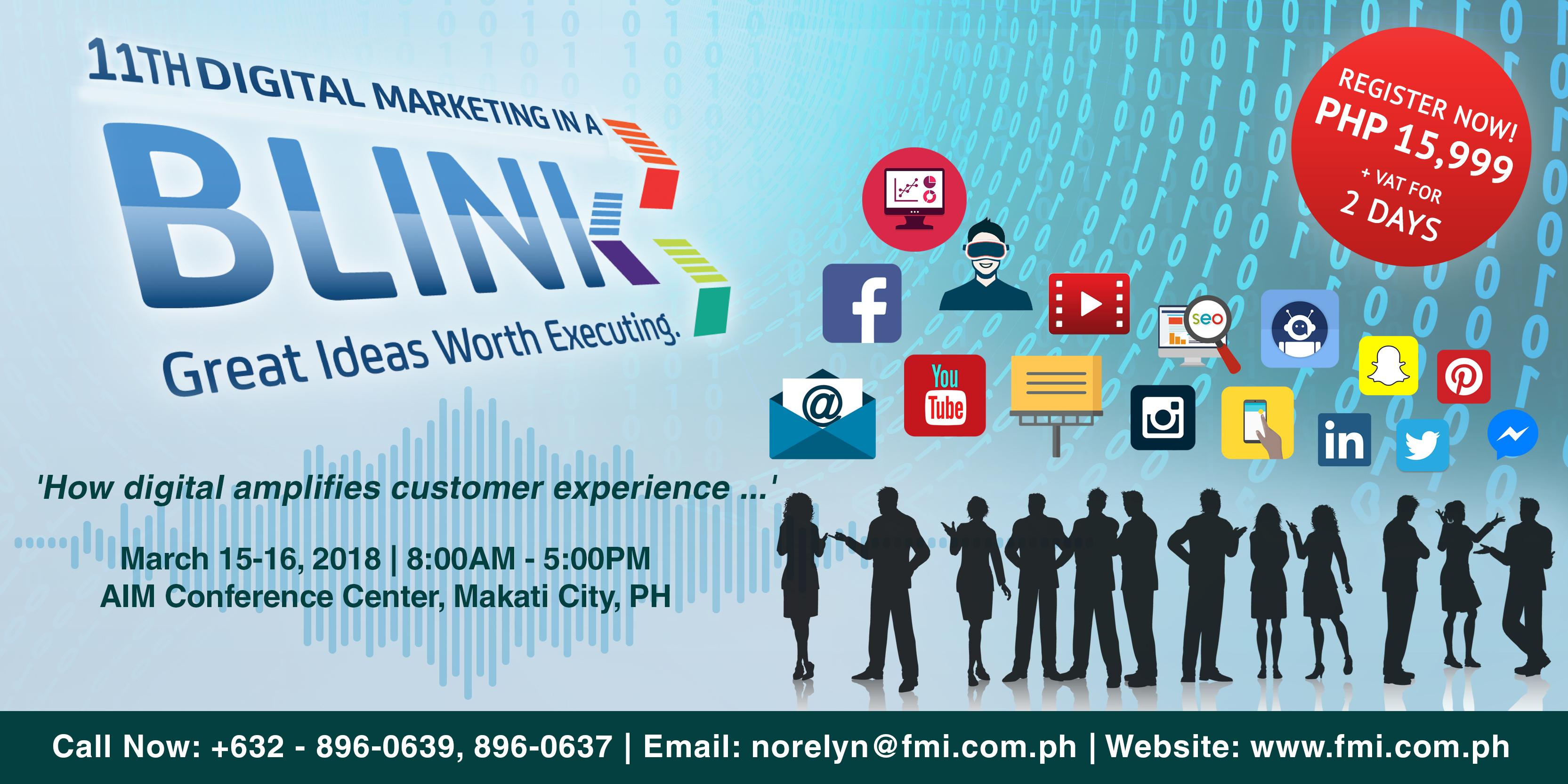 Digital Marketing In A BLINK Seminar 2018