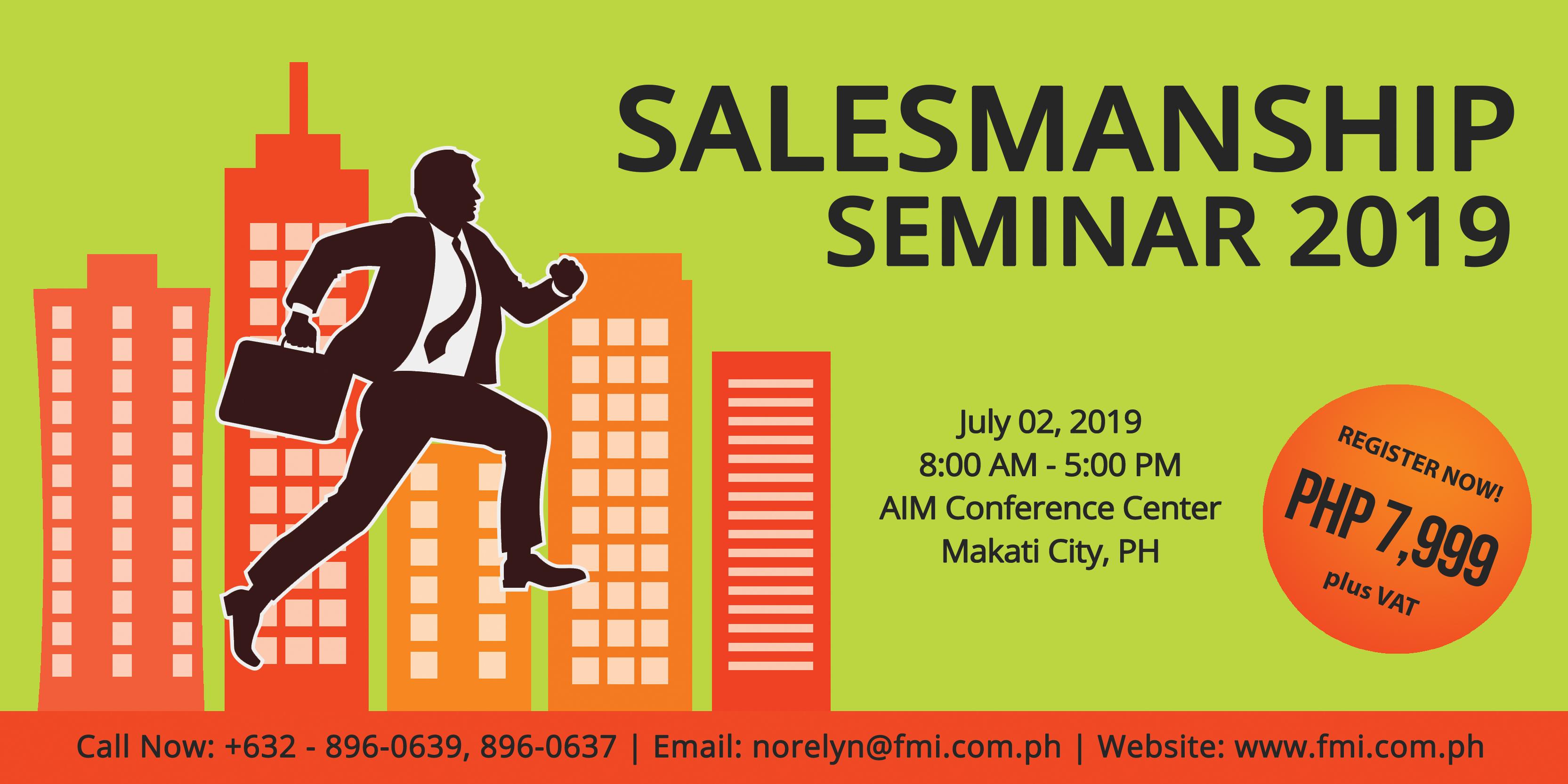 Salesmanship Seminar 2019